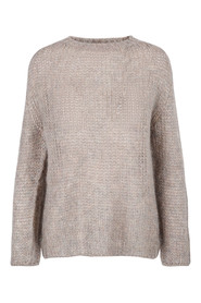 Taupe Fiore Knitted genser