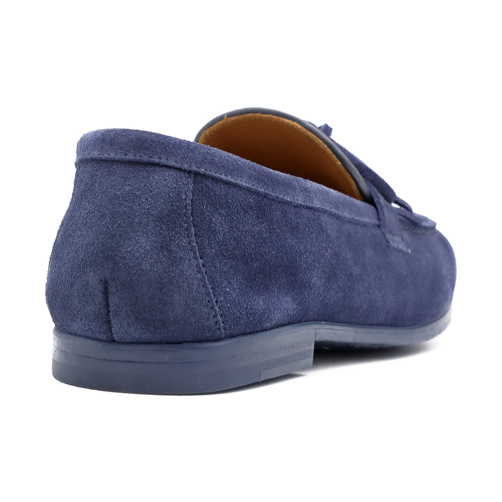 Blue Bokeh moccasin | Doucals | Loafers | Men's shoes