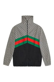 Oversized technical jersey jacket