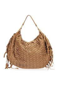 Pre-owned Woven Satchel Leather Calf