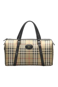 Haymarket Check Canvas Boston Bag