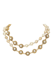 Pre-owned CC Faux Pearl Necklace