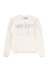 New Queen Emb Sb Fringes Sweater