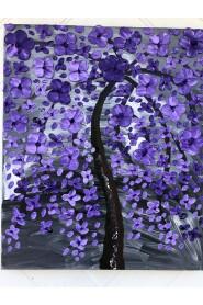 Maleri i lilla farver