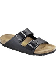 Sort Birkenstock Arizona skinn normal lest sandaler