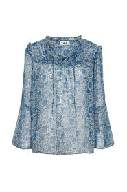 Fica Blouse in French Blue