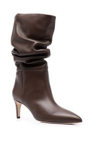 Slouchy boots in medium height