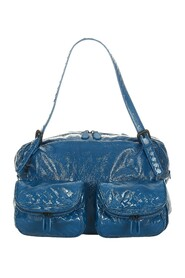 Pre-owned Intrecciato Patent Leather Shoulder Bag