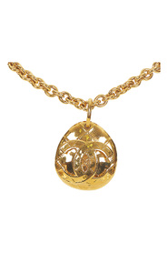 Pre-owned CC Round Pendant Necklace