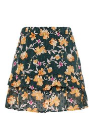 Skirt tiered floral print