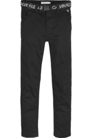 TROUSERS LOGO BELT TAPERED CH, BEH