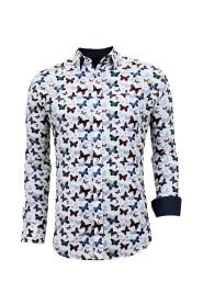 Luxe Hippe Heren Overhemden - Digitale Print - 3057