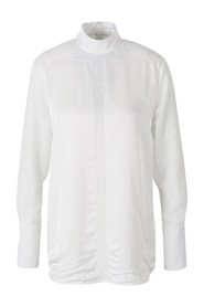 Blouse with satin strips