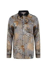 Blouse feather flower print