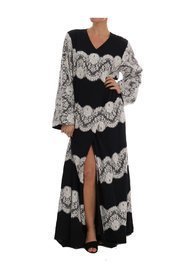 Silk Floral Lace Kaftan Dress