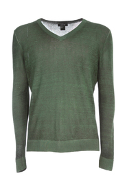 V NECK PULLOVER WITH HIGH EDGES