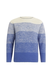 Sweater i mohair w.color degradere