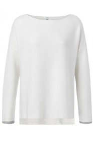 Cotton Sweater with ribbed Sleeves