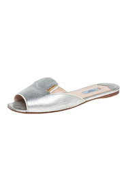 Pre-owned Leather Slide Flats