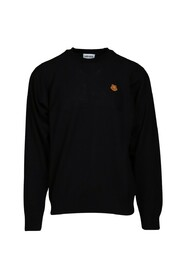 Embroidered sweater Black