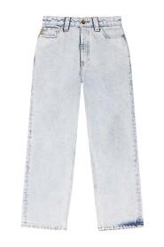 F5771 Gewassen Denim HIGHWAISTED Cropped Jeans