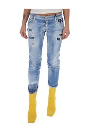 Gescheurde cropped jeans