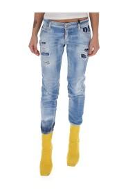 Zerrissene kurze Jeans