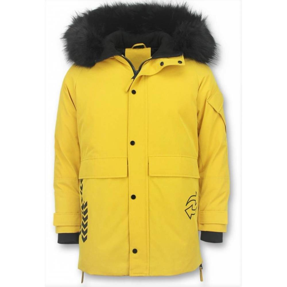 Vinterjacka män Parka jacka Quilted Coat Long Winterjacket