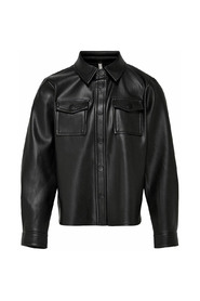 KONBRYLEE-DION FAUX LEATHER SHIRT