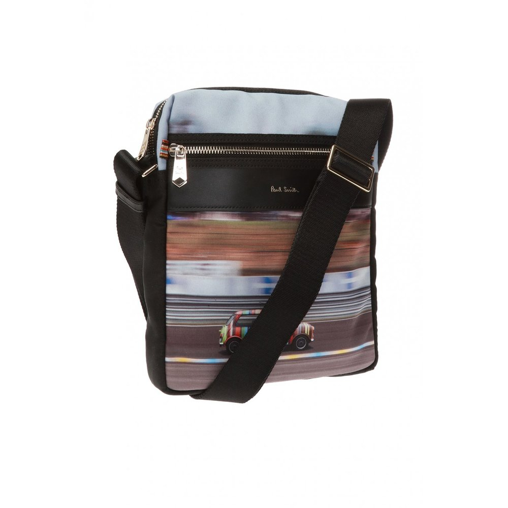 Black Patterned shoulder bag | Paul Smith | Schoudertassen | Herentassen
