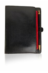 Vintage Black 6 Ring Agenda Cover Notebook with Pen