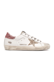 SUPER-STAR LEATHER UPPER SUEDE TOE GLITTER STAR AND HEEL
