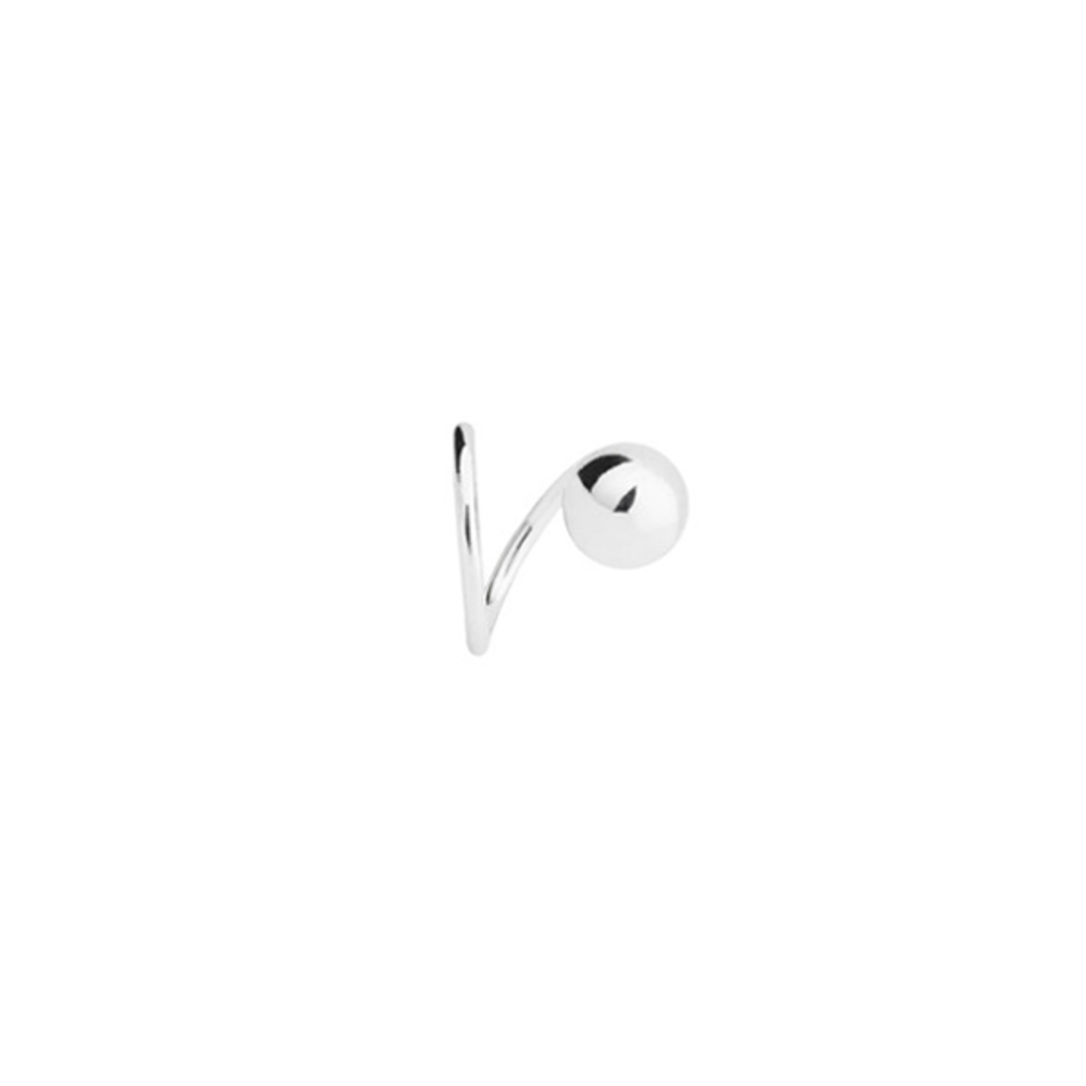 Ball Twirl Left Earring