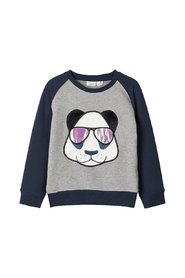 Sweatshirt Panda Applikations
