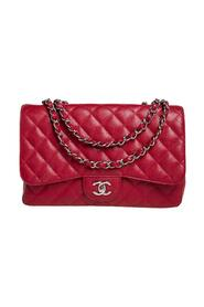 brukt Quilted Caviar Leather Jumbo Classic Single Flap Bag