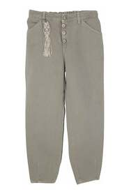 bambina pantalone Bull sabbia in misto cotone