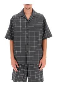Checkered bowling shirt