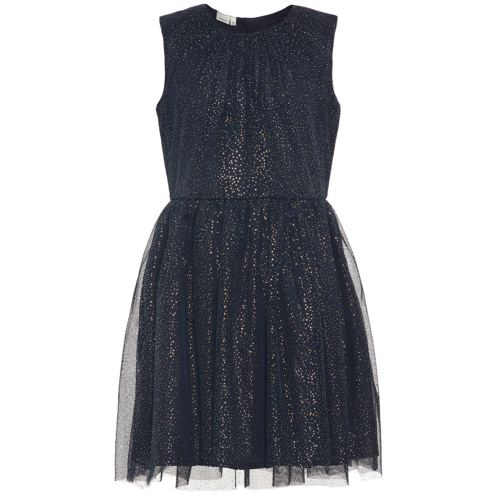 Dress gold dotted tulle