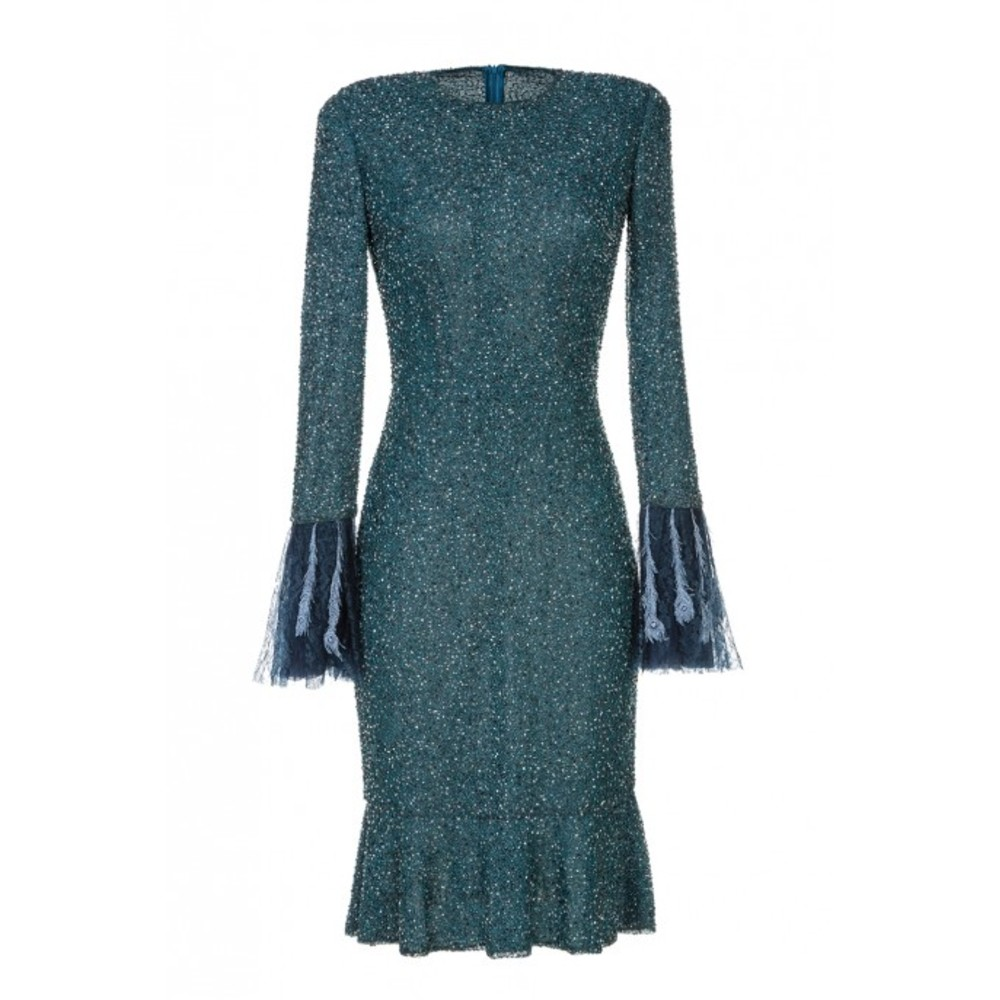DRESS WITH STONES AND LACE
