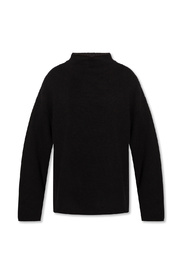 Cashmere sweater with standing collar