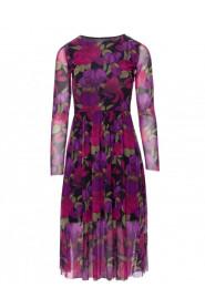 Sukienka z siatki z nadrukiem