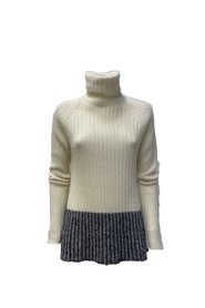 TWO-TONE RIBBED SWEATER