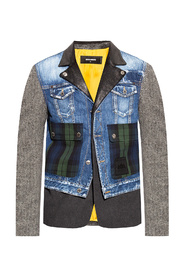 Jacket in contrasting fabrics