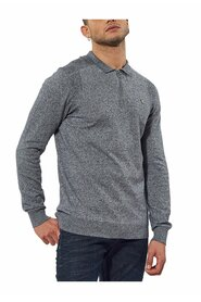 Pull chiné col polo zip
