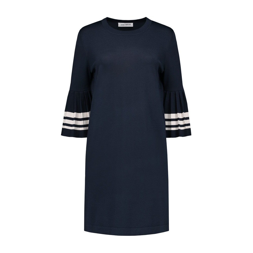Plisse stripe dress