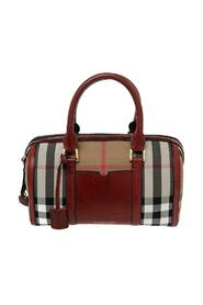 pre-owned House Check Canvas and Leather Sartorial Bowler Bag
