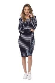Sukienka w paski z nadrukiem Navy Look 708