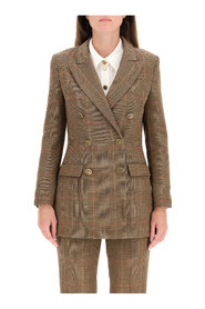 double-breasted prince of wales blazer
