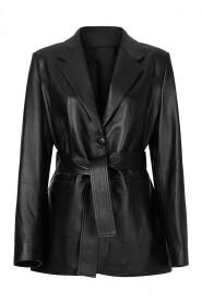 Ande Leather Belted Blazer