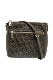 Signature Canvas And Leather Top Zip Shoulder Bag